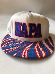 8e4a4b39ca8 Image is loading Vintage-NAPA-Snapback-Trucker-Hat-Cap-USA-Red-