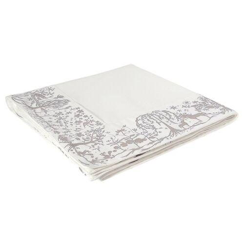 TISCHDECKE Reindeer World Bordüre weiß grau rot AUSWAHL 140x140 cm Authentics