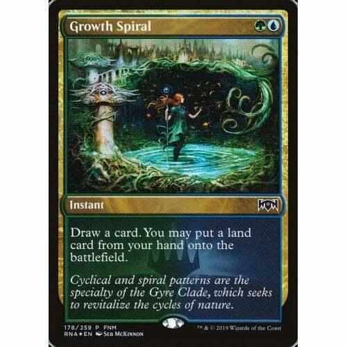 1x FOIL Growth Spiral Near Mint Magic card FNM promo ramp Ravnica Allegiance RNA