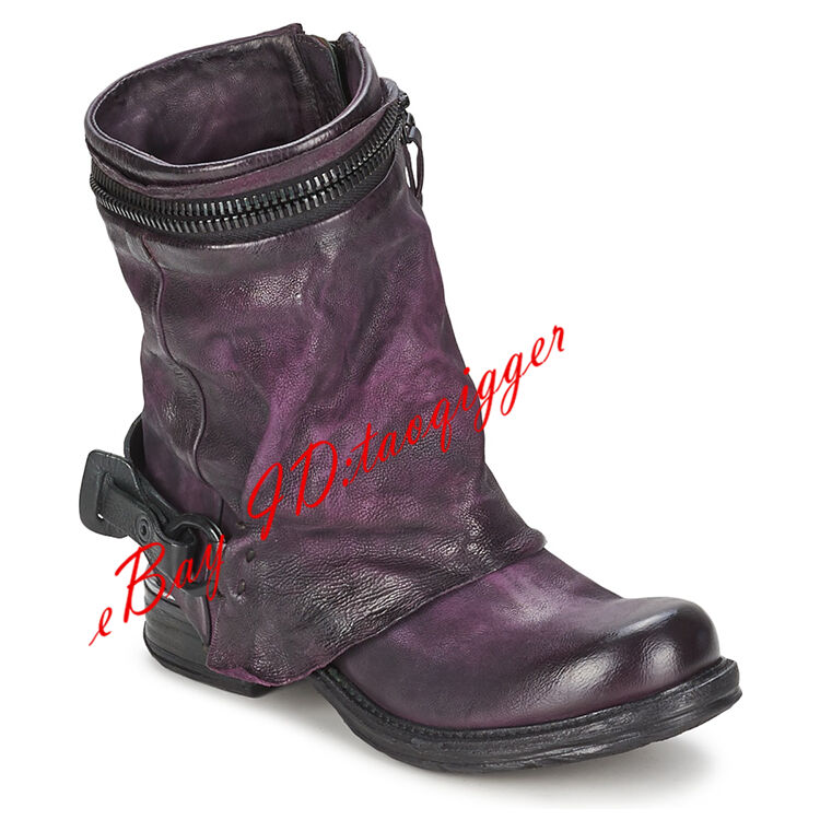 All US Size Womens Riding Boots Retro Leather Pull Pull Pull On Winter Ankle Boots Stretch ab1847