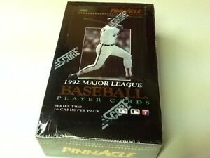 RARE-1992-Score-Pinnacle-MLB-Player-Cards-Series-2-FACTORY-SEALED-36pk-Box