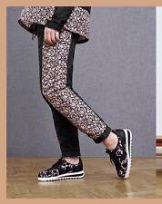 BNWT Women's Nike X Liberty QS Pants Black Trousers Sz L