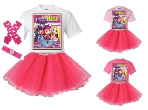 """/""""Little Charmers/"""" Personalized White or Pink T-Shirt and Pink Tutu Set NEW"""