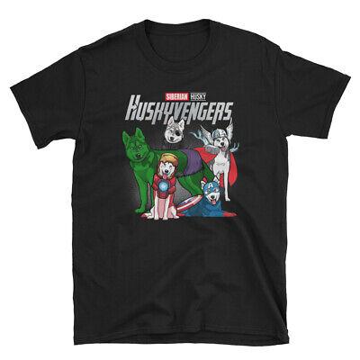Marvel The Avengers Tshirt Siberian Husky Huskyvengers Short-Sleeve T-Shirt