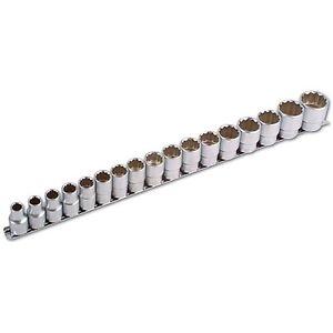 vaso profundo 6 caras 13 14 16 17 19 21 22 24 mm Juego de llaves de vaso largas 1//2 de 13 a 24 mm