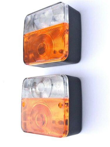 2x Blink-Positionsleuchte Traktor Schlepper Oldtimer Positionslicht Blinklicht