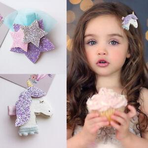 Shiny-Stars-Kinder-Baby-Maedchen-Haarspangen-Haarnadeln-Barrettes