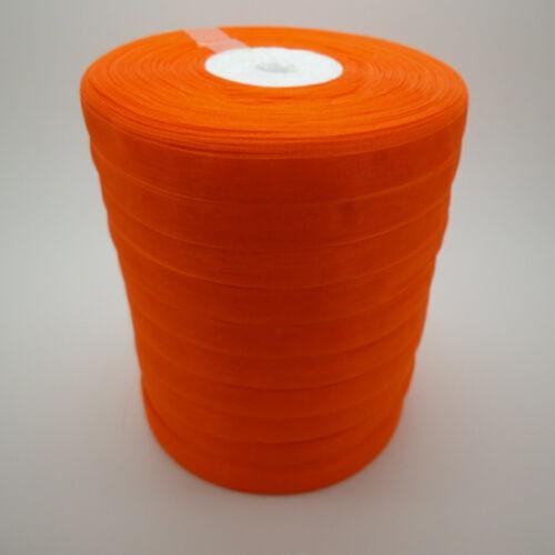 "3//8/"" Tailles Orange Satin Bord Sheer Organza Ribbon Bow Craft environ 45.72 m Nouveau À faire soi-même 50 Yd"