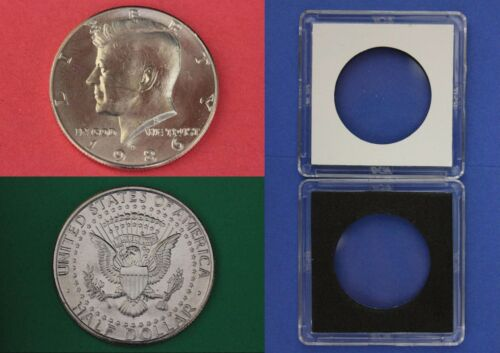 1986 D John Kennedy Half Dollar With 2x2 Case from Mint Combined Shipping