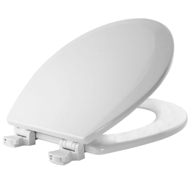 Wondrous Bemis Molded Wood Elongated Toilet Seat In White With Easy Clean Change Hinge Pabps2019 Chair Design Images Pabps2019Com