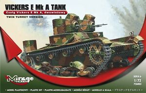 VICKERS E MK A - SEPTEMBER 1939 (POLISH ARMY MARKINGS) 1/72 MIRAGE