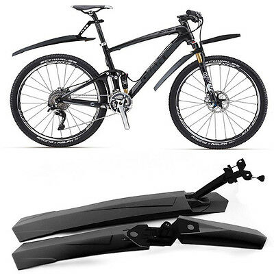 Cycling mountain Bicycle Bike Front / Rear Mud Guards Mudguard Fenders Set Black