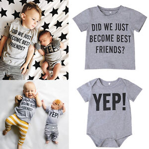 c708153f0518 Family Matching Tops Kids Baby Boy Big Little Brother Romper T-shirt ...