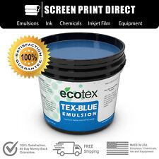 Ecotex Tex Blue Textile Pure Photopolymer Screen Printing Emulsion 1 Qt 32oz