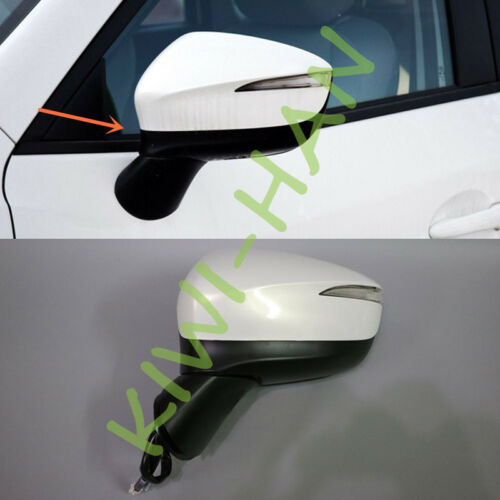 Left Side White Rearview mirror 9 electric wire for Mazda CX-5 2015-2016