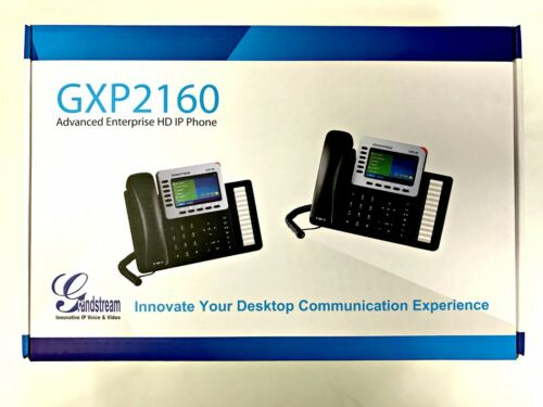 Grandstream Advanced Enterprise 6 Line HD IP phone- GXP2160 w Color LCD- N.I.B.