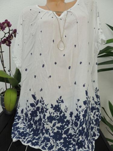 Haut Femmes Taille 44 46 48 50 grande taille tunique Blouses Shirt Motif Floral 112