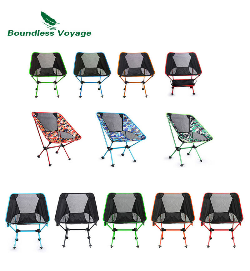 Portable Folding Chair Fishing Chair with Carry Bag Outdoor Camping Beach Chair