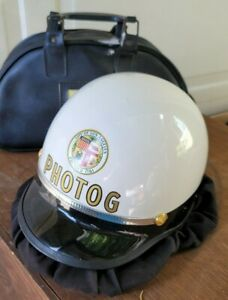Vintage Bell TopTex LAPD Los Angeles Police Helmet City of LA California New
