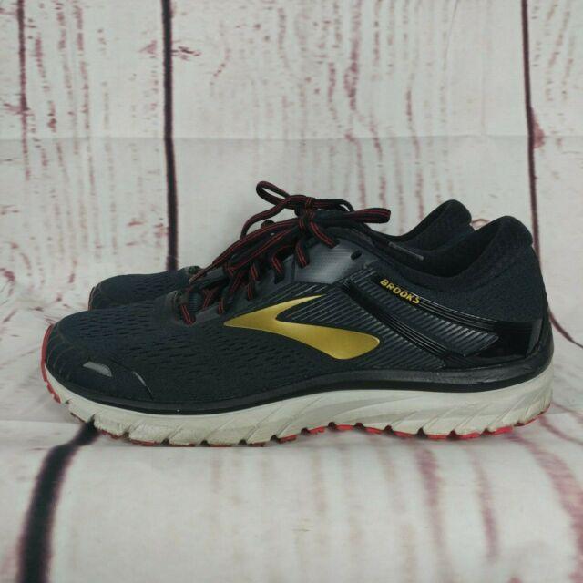 7d39264c50f8c Men's Brooks Adrenaline GTS 18 Running Shoes Black Gold Red Size 9 D
