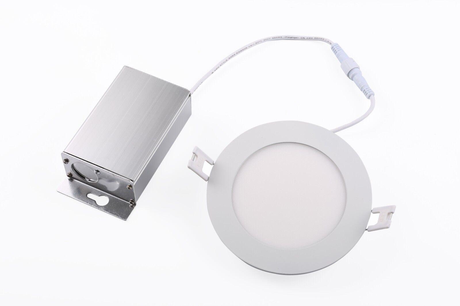 Levanier ® 20X 6 pulgadas 6  12W LED luz del panel del regulador 3000K delgado abajo empotrado