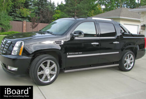 """iBoard Running Boards 4/"""" Fit 02-13 Cadillac Escalade EXT"""