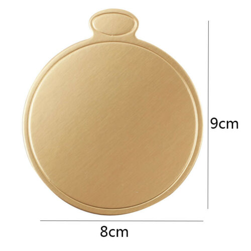100Pcs 8 CM 9CM Cake Boards Gold Round Mousse Cupcake Dessert Displays Tray