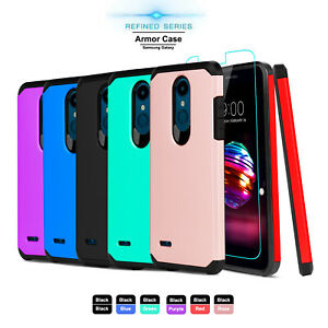 For-LG-K30-Xpression-Plus-Premier-Pro-LTE-Armor-Case-Cover-With-Screen-Protector