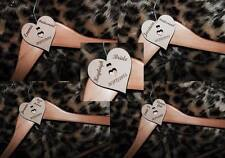 personalised hearts for wedding coat hangers bride,groom,bridesmaid,flowergirl