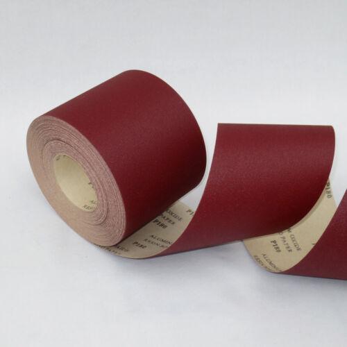 Schleifrolle Papier abrasif avec OD Sans Velcro 115mmx25m rouleaux papier abrasif rôle