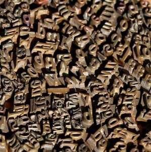 Konvolut-Messinglettern-Buchbinden-Messingschrift-Praegen-Lettern-Heisspraegung
