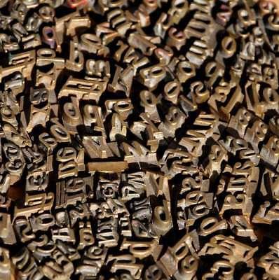 Konvolut Messinglettern Buchbinden Messingschrift Prägen Lettern Heißprägung Einen Effekt In Richtung Klare Sicht Erzeugen