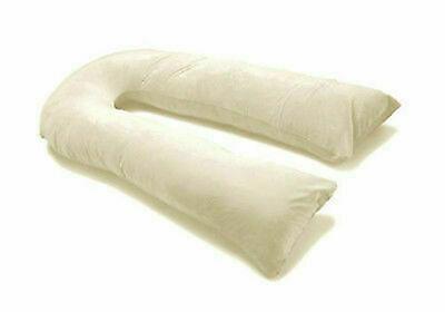 12 Ft Comfort U Pillow Full Body Maternity Pregnancy Support 9 Ft Free Case