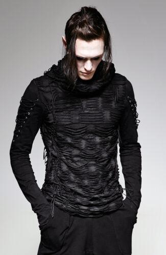 da shirt alta Punkrave Punk stock Metal uomo capuche Destroy Gothic En Sweat T ᄄᄂ zpSqMUV