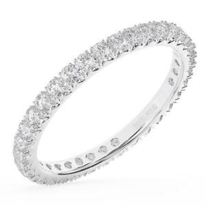 0-75-Ct-Round-Brilliant-Cut-Diamond-Full-Eternity-Wedding-Ring-18K-White-Gold