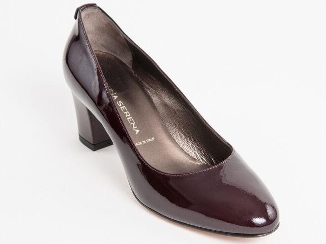Nuova Donna Serena Bordo Patent Leather Made  in  scarpe Dimensione 36 US 6  promozioni di sconto