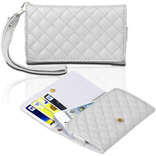White Flip PU Leather Wallet Case Cover W/ Strap For Apple iPhone 5S/5