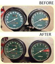 CB550 CB550F CB500T Honda Cafe Racer Gauge Face Decal Overlay Applique Tach CB