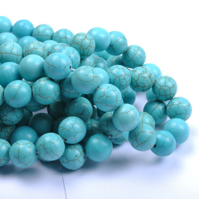 Wholesale 6MM 8MM 10MM 12MM 14MM Howlite Turquoise Gemstone Round Loose Beads