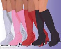 Go Go Gogo Girl 60s 70s Hippy Hippie Shoe Fancy Dress Costume Boot Top Covers
