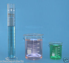 Beaker set 1000mL 250mL Cylinder 250mL Borosilicate Glass Griffin Lab beakers