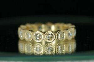 0-50Ct-Round-Brilliant-Cut-Diamond-Eternity-Band-14K-Yellow-Gold-Finish