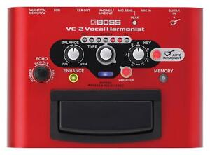 BOSS-VE-2-VOCAL-HARMONIST-HARMONIZER-ENHANCER-USB-INTERFACE-GESANGS-EFFEKT-HALL