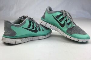 901b7a8f65be2 NIKE Sneakers Trainers Running Free 5.0 + Plus Grey Mint Shoes ...