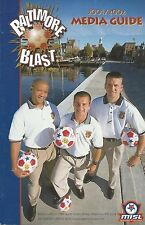 2001-02 Baltimore Blast MISL Indoor Soccer Media Guide - #FWIL