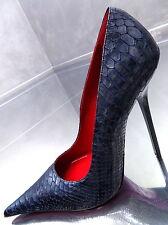 NEU 1969 ITALY LEDER Hohe Damen Sexy High Heels Pumps K97 Best Leather Übergröße