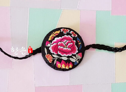 Hanbok Hairband Rose Hair Accessory Daenggi Korean traditional Clothes Pigtail