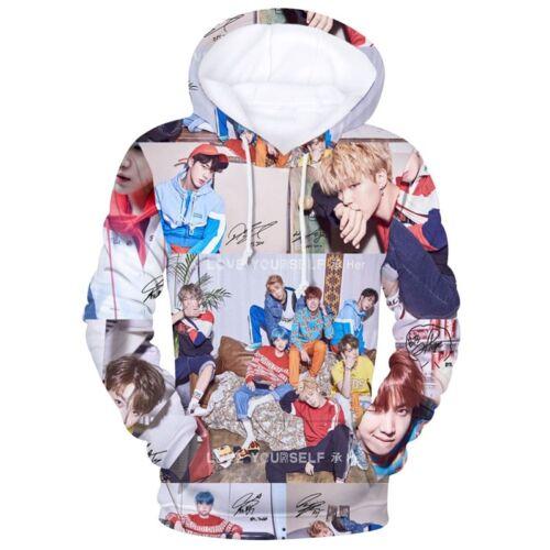 Herren Damen 3D BTS Love Yourself JIMIN V Kapuzenpullover Sweatshirt Kapuze Tops