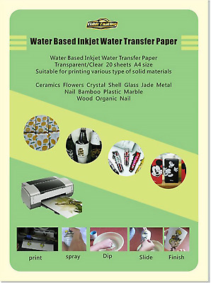 CLEAR 10 Sheets INKJET Water Slide Decal Paper