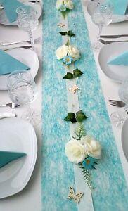 Komplette Tischdeko Dekoration Tischdekoration Hochzeit Taufe Turkis